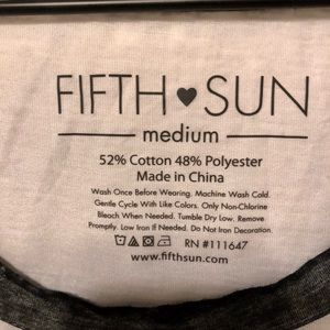 Fifth Sun Tops - Fifth Sun coffee and Dogs Burnout Tank Size M